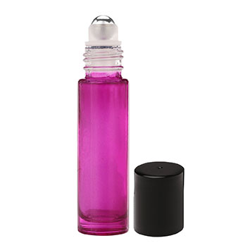10-ml Purple Glass Roll On Bottles