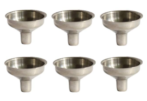 Stainless Steel Mini Funnel for Essential Oil Bottles / Flasks - Pack of 6