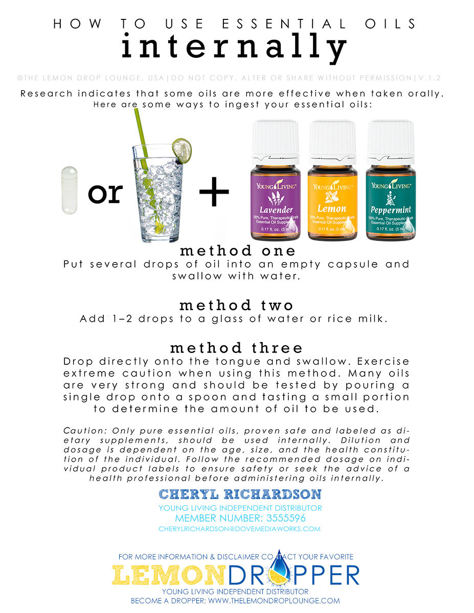 How to use essential oils Internally
